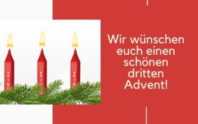 Ihr Lieben, wir wünschen euch allen einen schönen dritten Adventssonntag!🎄