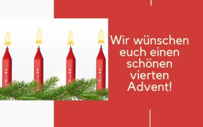Wir wünschen euch allen einen schönen vierten Adventssonntag!🎄